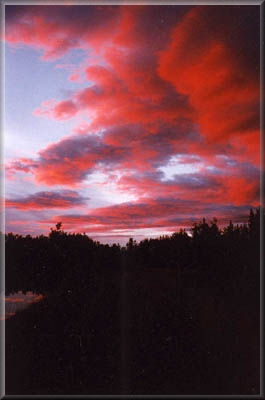The sun sets on this Alaskan photo card