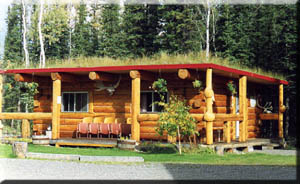 vacation in one of the log cabin bed and breakfast rooms.