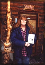 Tok poet laureate, Donna Blasor-Bernhardt with her Alaskan history book, Tok the Real Story