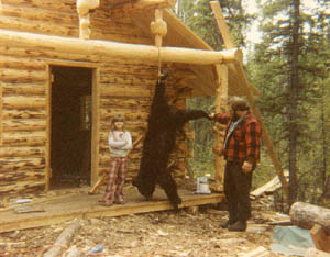 For an Alaskan family living in a tent, this bear was good eating.