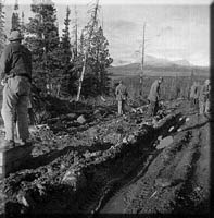 Old Alaska Highway photo shows Alaskan history in action.